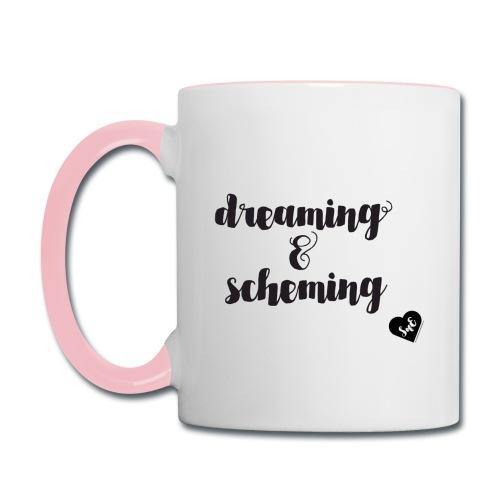 Dreaming & Scheming Mug - Contrast Coffee Mug