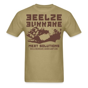 Meat Solutions Shirt (Brown on Tan) - Men's T-Shirt