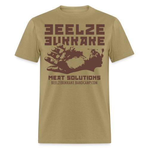 Meat Solutions Shirt (Brown on Tan) - Men's T-Shirt
