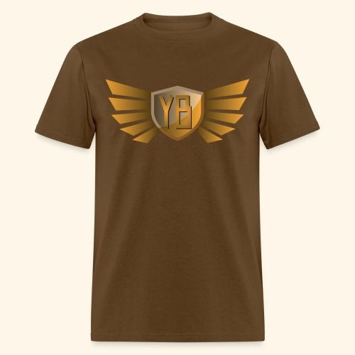 YBshield w/ Wings_Orange - Men's T-Shirt