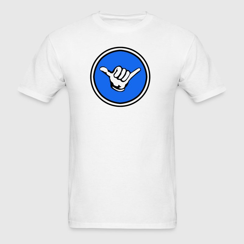 Men's Shaka Gaming Logo Plain White T-Shirt  - Men's T-Shirt