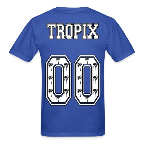 Tropix Logo Jersey T-Shirt with Tropix and Number on Back (White Text) - Men's T-Shirt