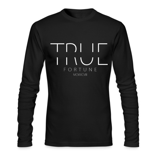 Men's True Fortune Long Sleeve Tee - Black - Men's Long Sleeve T-Shirt by Next Level