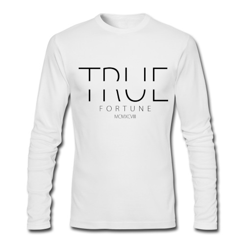 Men's True Fortune Long Sleeve Tee - White - Men's Long Sleeve T-Shirt by Next Level