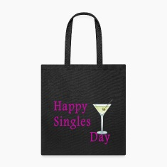 Canvas Tote Bag   Happy SIngles Day