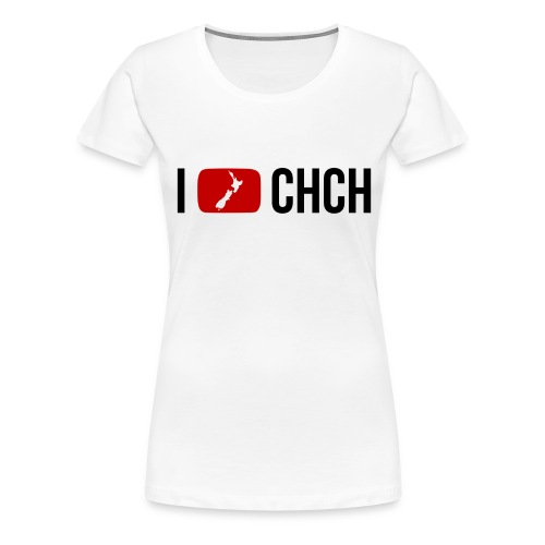 I Love Christchurch - White - Women's Premium T-Shirt