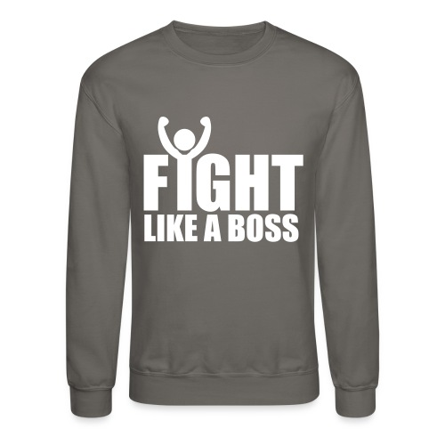 LIVE LIKE A LION, NOT A SHEEP- FIGHT LIKE A BOSS SWEATER - Crewneck Sweatshirt