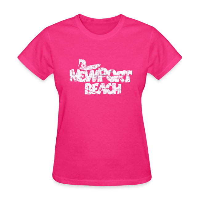 Newport Beach Vintage Surf T Shirt