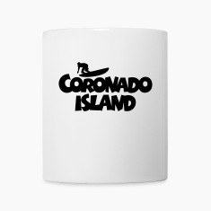 Coronado Island Surf Design for Californian Surfer Mugs & Drinkware