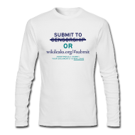 Long Sleeve Shirts ~ Men's Long Sleeve T-Shirt by Next Level ~ Submit to Wikileaks