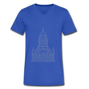 French Cathedral Berlin - Men's V-Neck T-Shirt by Canvas