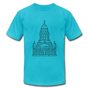 French Cathedral Berlin - Men's T-Shirt by American Apparel