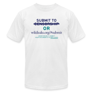 T-Shirts ~ Men's T-Shirt by American Apparel ~ Submit to WikiLeaks