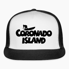 Coronado Island Surf Design for Californian Surfer Caps