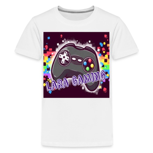 All White Tshirt  With Channel Logo - Kids' Premium T-Shirt