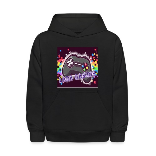 All Black Sweater With Logo - Kids' Hoodie