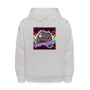 Heather Gray Sweater With Channel Logo : ) - Kids' Hoodie