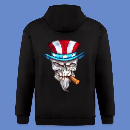 Uncle Sam Hoodie - Men's Zip Hoodie