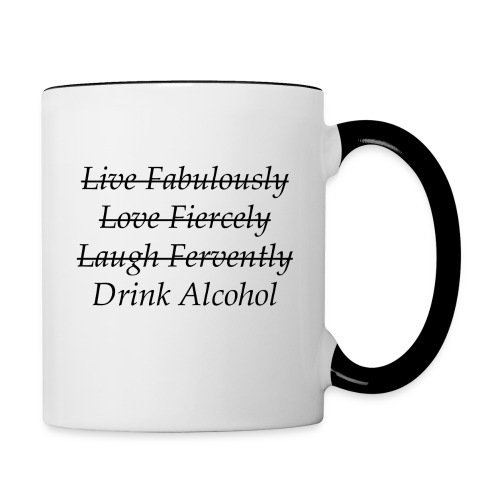 Drink Alcohol Mug - Contrast Coffee Mug