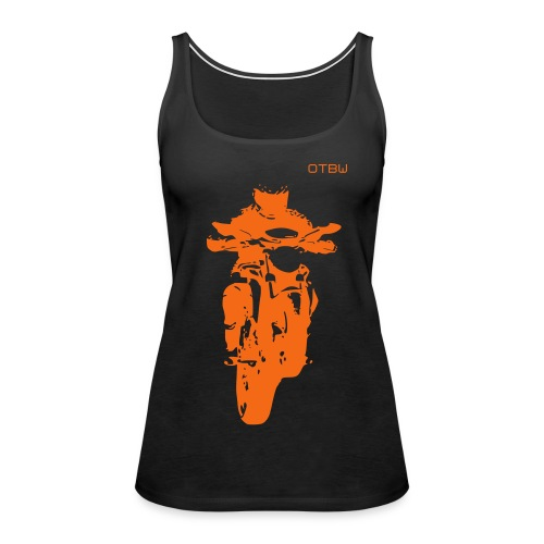 OTBW - female singlet -orange logo - Women's Premium Tank Top