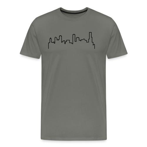 Melbourne Skyline Shirt - Grey - Men's Premium T-Shirt