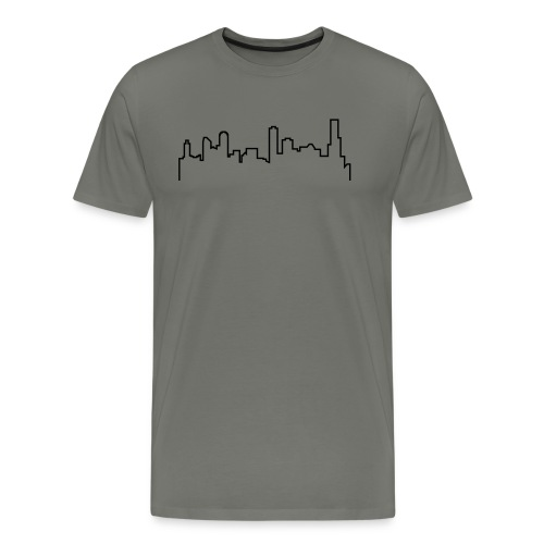 Melbourne Skyline Shirt - Grey - Men's Premium T-Shirt
