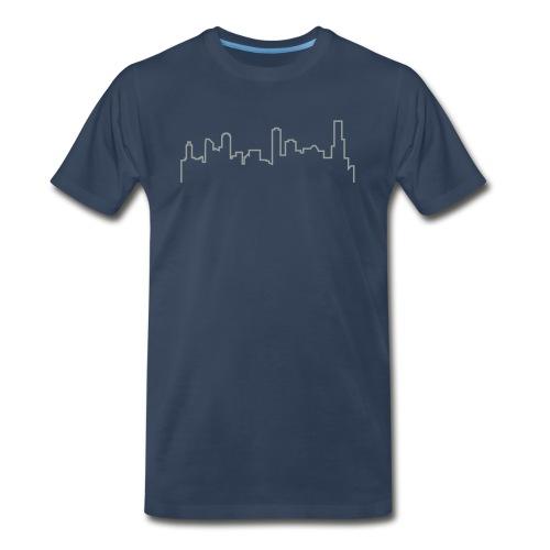 Melbourne Skyline Shirt - Dark Blue - Men's Premium T-Shirt
