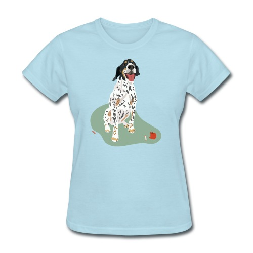 Women's Tee | Spotted Apple Eater Hound - Women's T-Shirt