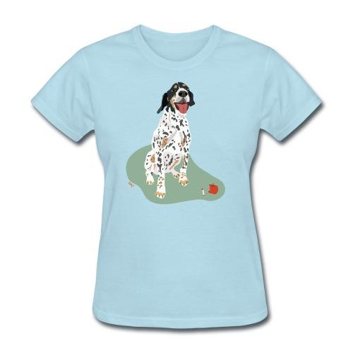 Women's Tee | Spotted Apple Eater Hound - Women's T-Shirt