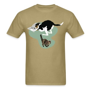 Men's Tee | Cat Makes the News - Men's T-Shirt