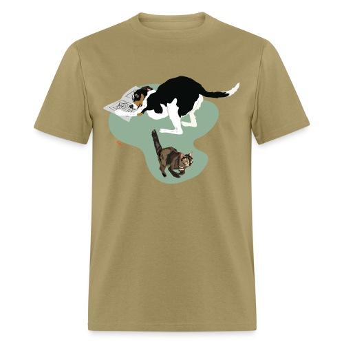 Men's Tee | Cat Makes the News - Men's T-Shirt