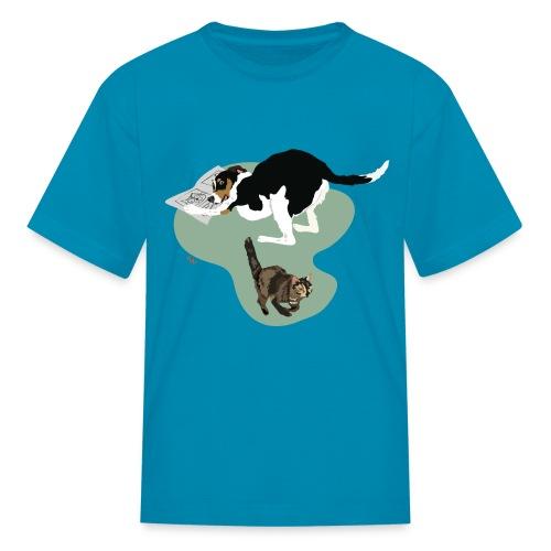 Kids' Tee | Cat Makes the News - Kids' T-Shirt