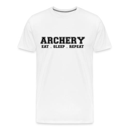 Archery Eat Sleep Repeat - White - Men's Premium T-Shirt