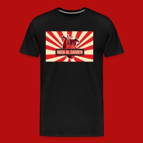Rock al Garden logo stripes men - Men's Premium T-Shirt