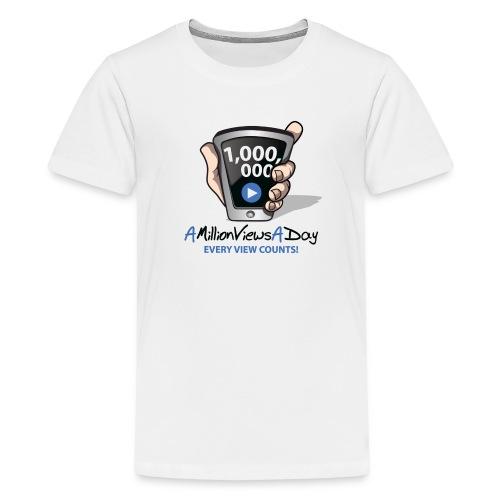 AMillionViewsADay Kid's Tee (white) - Kids' Premium T-Shirt