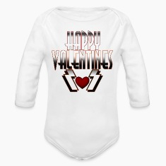Happy Valentine DSFRL Kids Baby Long Sleeve One Pi
