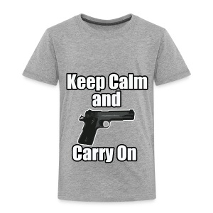 Keep Calm Carry On - Toddler Premium T-Shirt