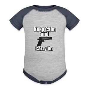 Keep Calm Carry On - Baby Contrast One Piece