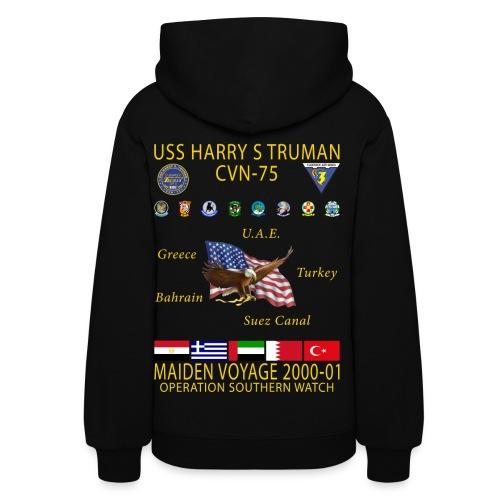 USS HARRY S TRUMAN 2000-01 MAIDEN CRUISE HOODIE - WOMEN'S - Women's Hoodie