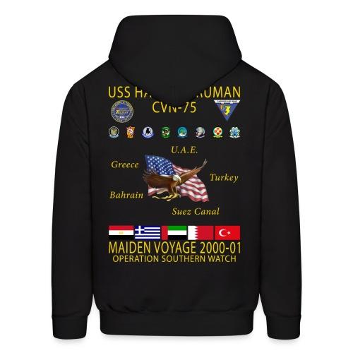 USS HARRY S TRUMAN 2000-01 MAIDEN CRUISE HOODIE - Men's Hoodie