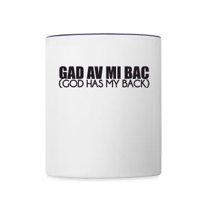 Gad av mi back - Contrast Coffee Mug