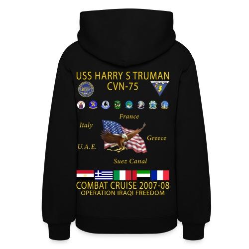 USS HARRY S TRUMAN 2007-08 COMBAT CRUISE HOODIE - WOMEN'S - Women's Hoodie