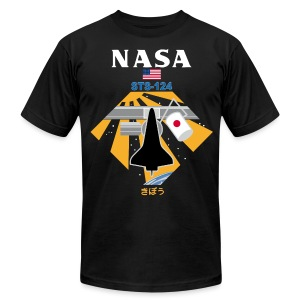 NASA STS-124 t shirt - Men's T-Shirt by American Apparel