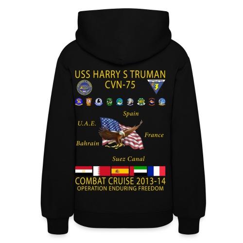 USS HARRY S TRUMAN 2013-14 COMBAT CRUISE HOODIE - WOMEN'S - Women's Hoodie