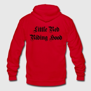 Little Red Riding Hood - Unisex Fleece Zip Hoodie by American Apparel