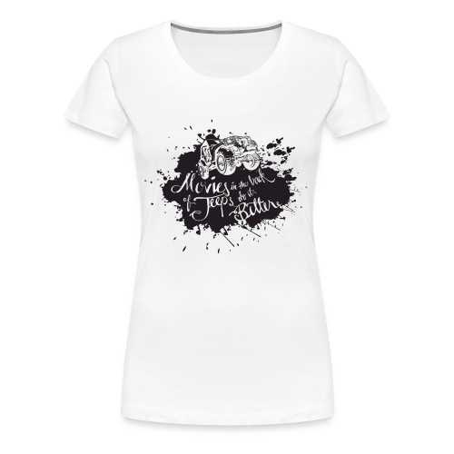 Unspeakable: Movies in Jeeps T-shirt - Women's Premium T-Shirt