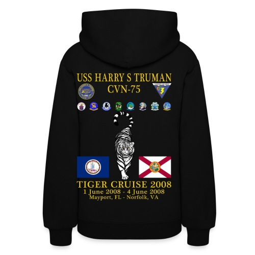 USS HARRY S TRUMAN 2008 TIGER CRUISE HOODIE - WOMEN'S - Women's Hoodie