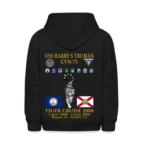 USS HARRY S TRUMAN 2008 TIGER CRUISE HOODIE - KID'S - Kids' Hoodie