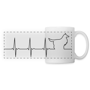Heart Collie - Mug - Panoramic Mug