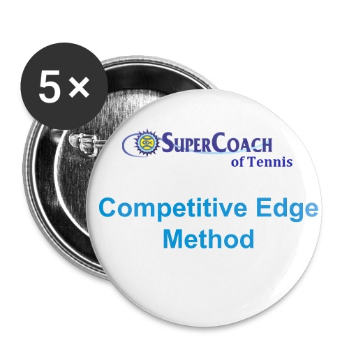 SuperCoach of Tennis Button - Large Buttons